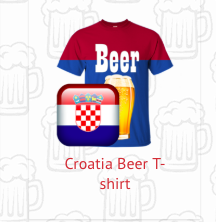 croatia beer t-shirt
